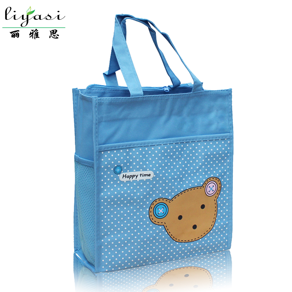 Newest Pop wide cute image food Bag/ 600d polyester canvas food tote bag