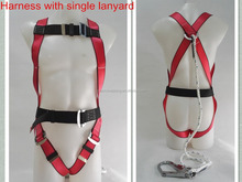 full body safety harness with single lanyard for construction