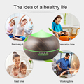 300ml-400ML Aromatherapy Electric Aroma Diffuser Wood Grain Ultrasonic Aroma Air Purifier Diffuser with 7 Color LED
