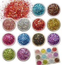 2011 new style nail art decoration Decals laser 2mm or 1mm nail art glitter powder