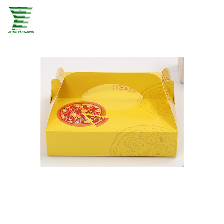 Corful printed cheap food paper box for pizza