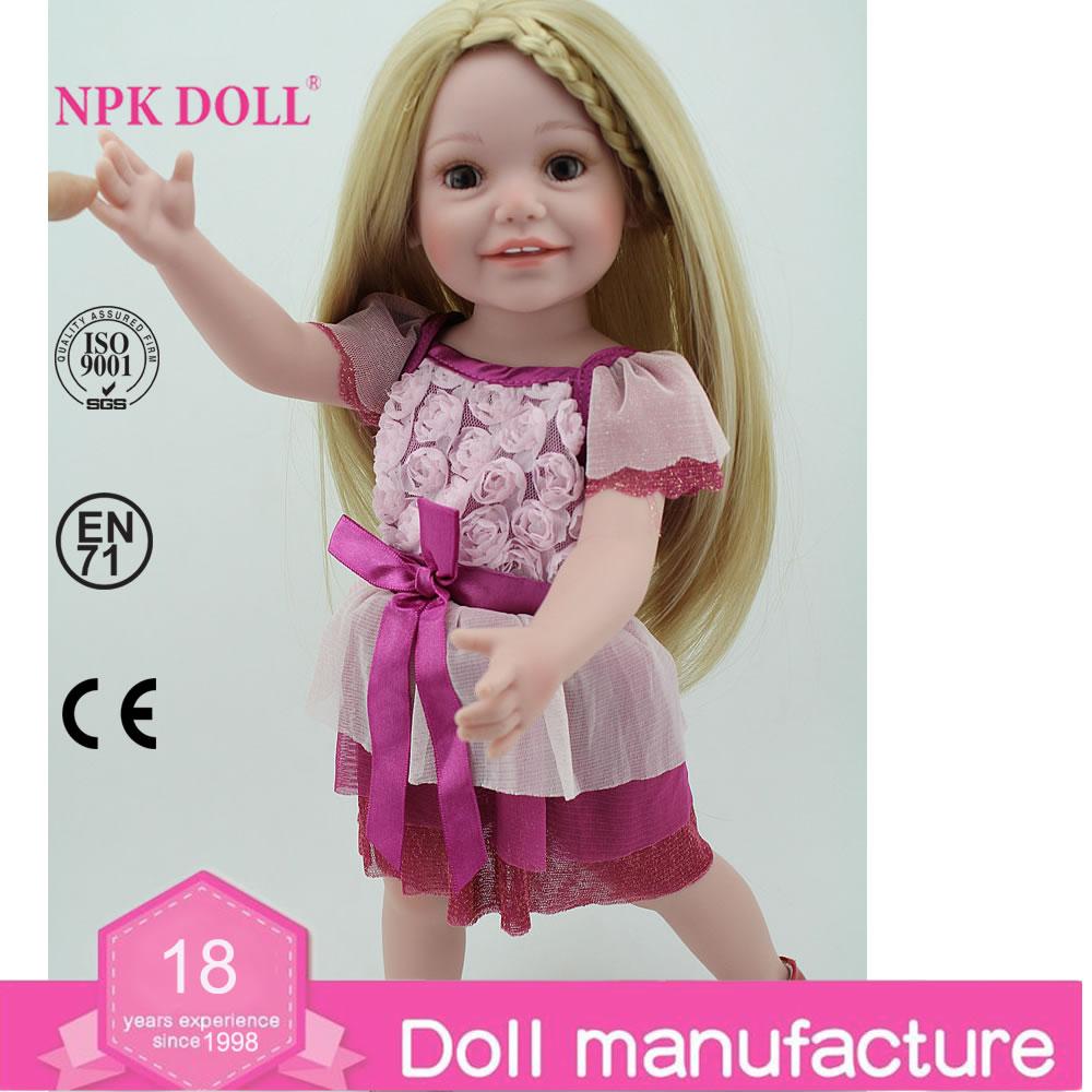 Nieuwste ontwerp levensechte pretty girl poppen Kerst ...