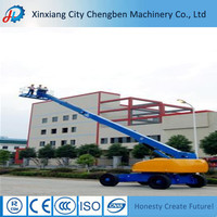 Solid rib tire small boom lifting with more stable movement