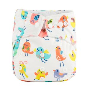 CE ISO China manufacture 100% Polyester Reusable Washable & Waterproof absorbent adult sized baby diapers with prints