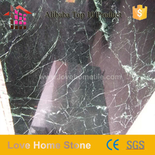 Exporter polished dark green/ big flower green marble with veins low price on sale