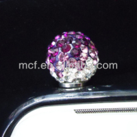Wholesale diamond cell phone cute anti dust plugs charm /earphone jack dust cap plug MCD-0014