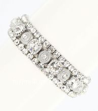 Crystal Rhinestone Set 3-Piece Stretch Bracelet 2014 fashion bracelet leather