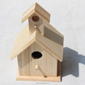 Decorated wooden bird house, New design natural wooden bird house for hanging inside and outside