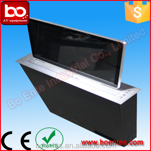 Interactive Motorized Pop Up LCD Monitor Lift Mechanism BLL-15.6 for Conference Audiovisual Furniture