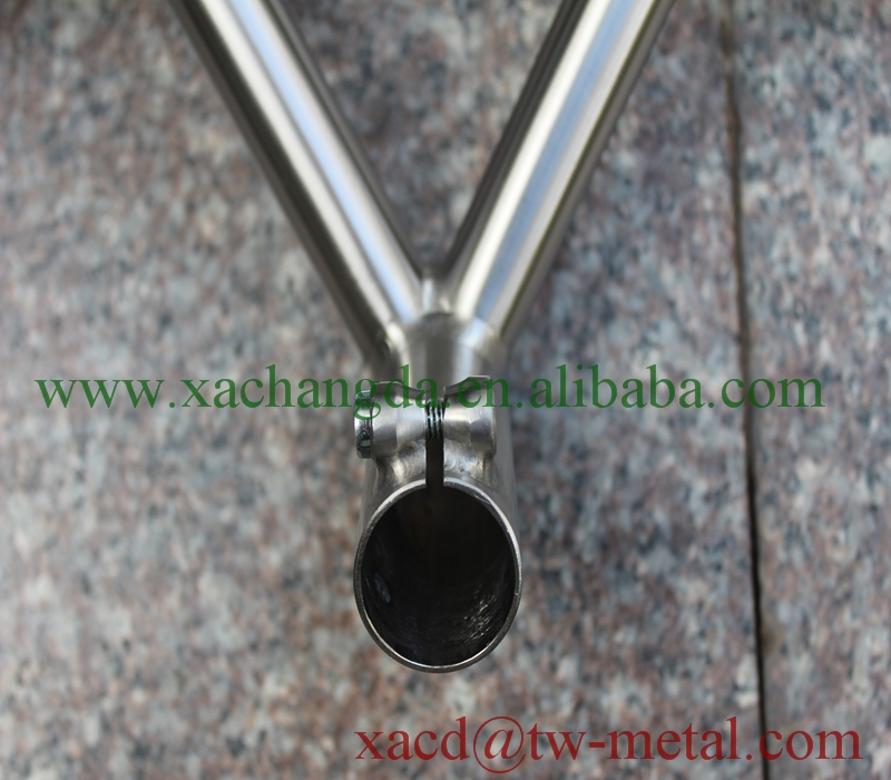 titanium handlebar and stem customized MTB bike handle bar with high quality factory direct supply titanium handle bar