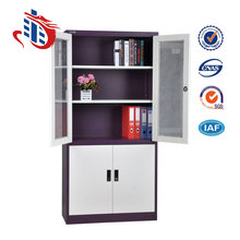 2017 Knocked Down Sliding Glass Door Steel File Cabinet Office Furniture
