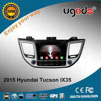 ugode Wholesale 8inch touch screen 1024*600 Android Double Din Car GPS with Radio DVD Player for Hyundai Tucson 2015