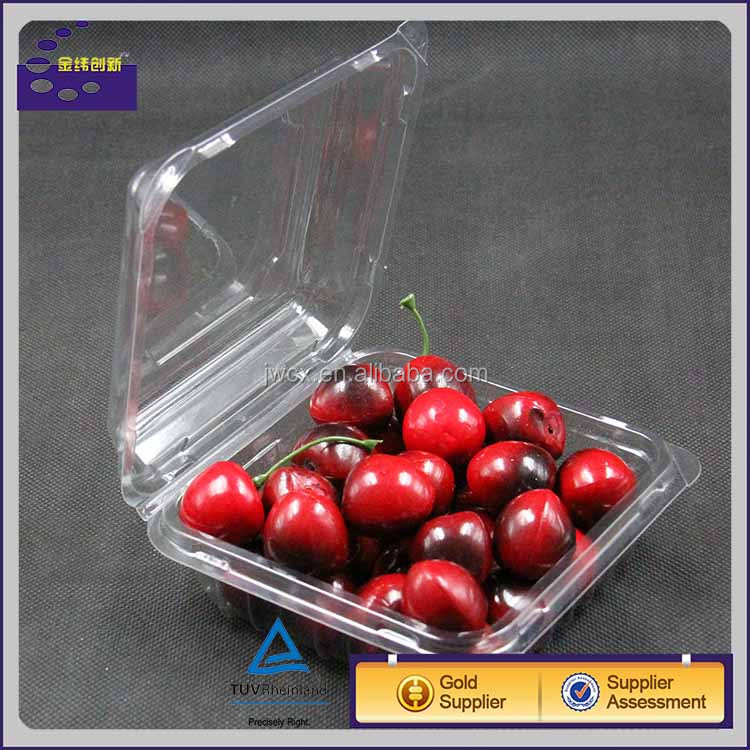 150g transparent plastic food/fruit packaging box with lid