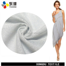 Italy new design polyester spandex lurex fabric for making clothes