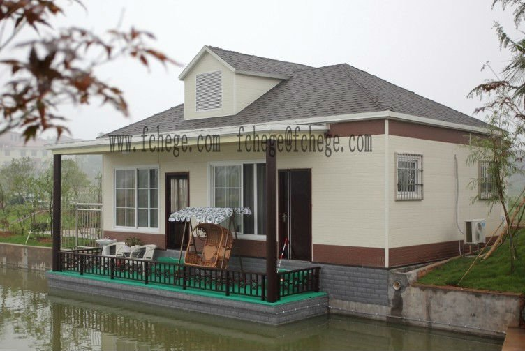 Prefabricated houses in China light steel frame villa / fashionable luxury huts