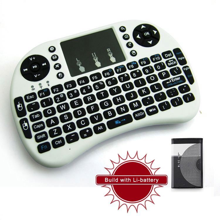 No backlit hand size design best portable universal remote control with air-mouse