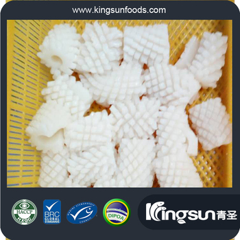 New Production Frozen Cleaned Grade A 80%N.W. Dosidicus Gigas Giant Squid Flower /Pineapple Cut