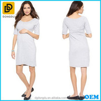 Wholesale Ladies Scoop Neck Half Sleeve Jersey Maternity Dress