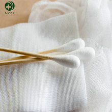 Best selling products wooden bamboo liquid filled cotton swab