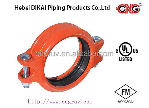 FM UL Approved Grooved Rigid Coupling Ductile Iron Groove Pipe Fitting