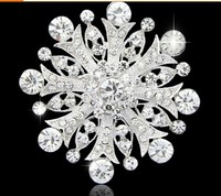 Crystal Snowflake Brooches For Women Dress Brooch Pin Bouquet 2015 Luxury Flower Brooch Wedding Jewelry Top Quality!!