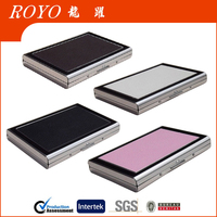NEW Waterproof Business ID Credit Card Wallet Holder Metal and leather Pocket Case