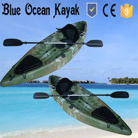 2016 Blue Ocean new design and colour kayak with paddle/fishing kayak with engine/single fishing kayak with engine