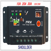 10A 20A 30A 12v 24v Solar Charge Controller Regulator
