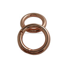 Professional High Quality Metal Strong Spring O Ring Rose Gold