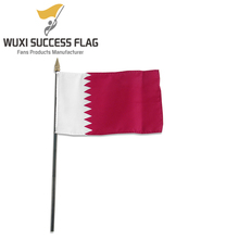 sublimated printing Qatar country nation hand held waving car window flag