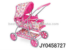 Lovely iron two layers of the friction baby stroller with awning