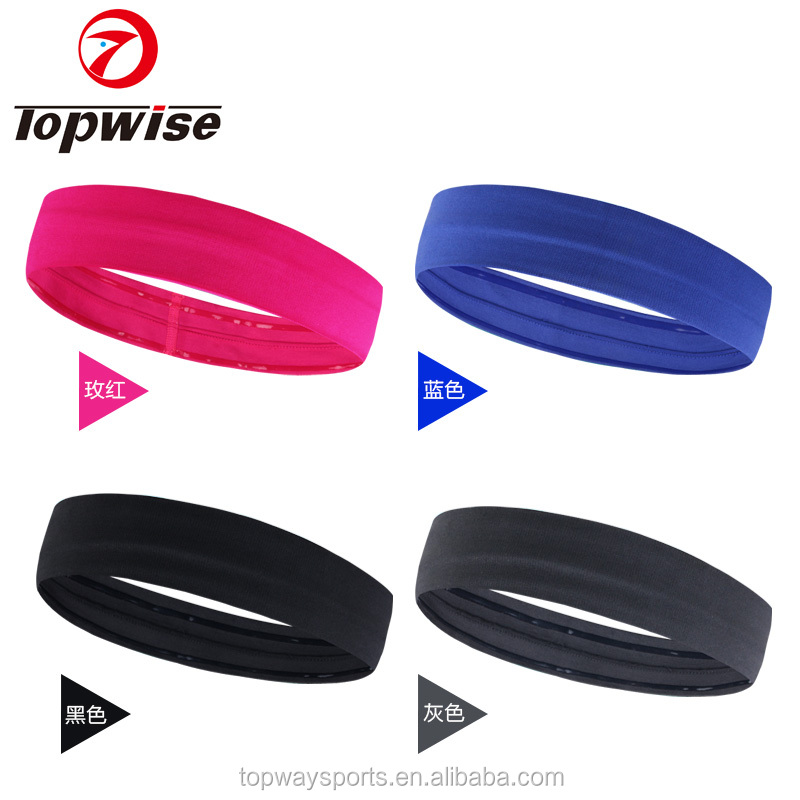 Performance Stretch & Moisture Wicking Hair Band Unisex Non Slip Workout Headband