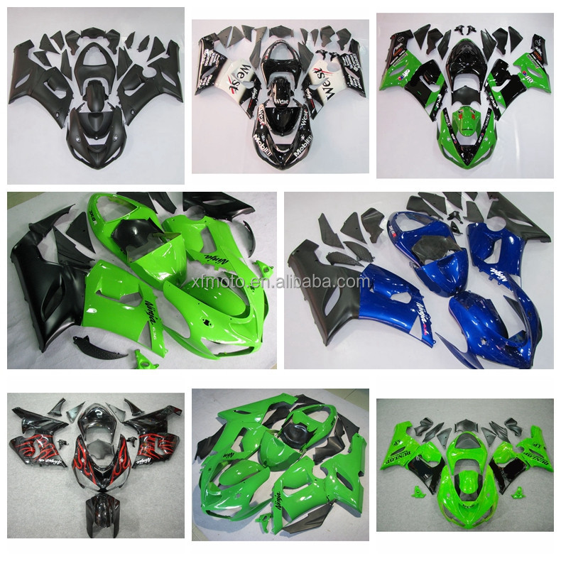 ABS Injection Fairing Bodywork For Kawasaki Ninja ZX6R ZX-6R 2005-2006 05 06