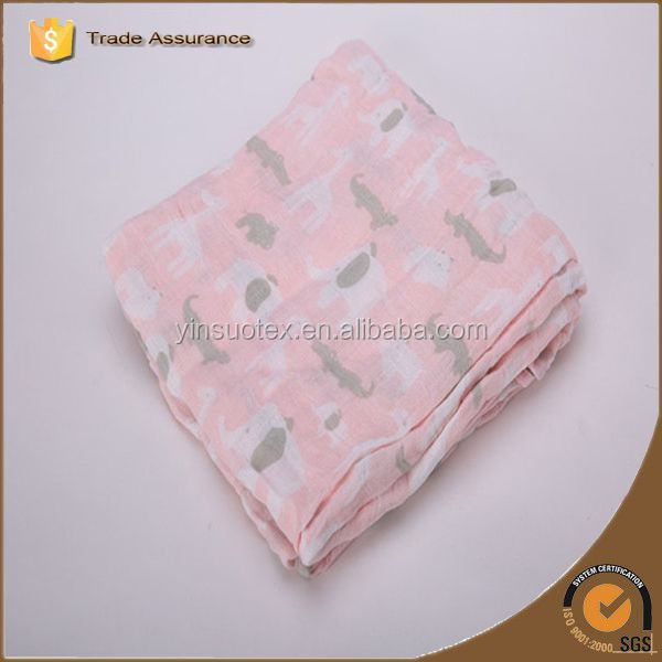 Best selling products organic knitted muslin baby blanket, swaddle blanket baby