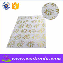 New arrival manufacturer snow designer glitter wrapping paper with silver gold fold for christmas gift