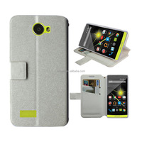 for archos 50 white standing wallet leather case