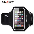 HAISSKY Universal Breathable Armbands Gym Running Sport Arm Band Case cover with earphone holder, small pocket for iPhone 7