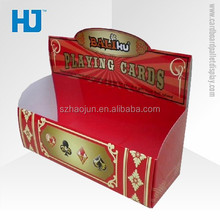 Cardboard playing cards display stand,retail cards display box