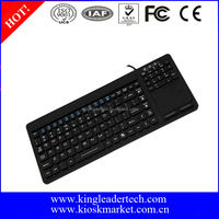 107 silicone rubber keys Waterproof silicone keyboard with touchpad