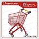 17 Liter kids metal small shopping cart trolley with 4 wheels