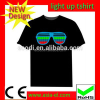 Wholesale led el t shirt buy sound activated/Flexible led for t shirt