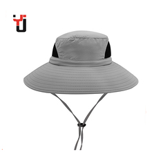 Promotional Waterproof OEM Logo UV Fishing Hunting Sun Visor String Bucket Hat