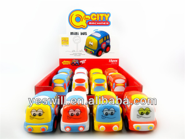 Q-CITY Friction small cute cartoon bus toy for kids