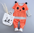 2016 fall new children's three-piece boutique outfits suit christmas cartoon panda suit