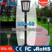 Decorative Post Light Ip65 Led Garden Lamp Solar Power With Pir