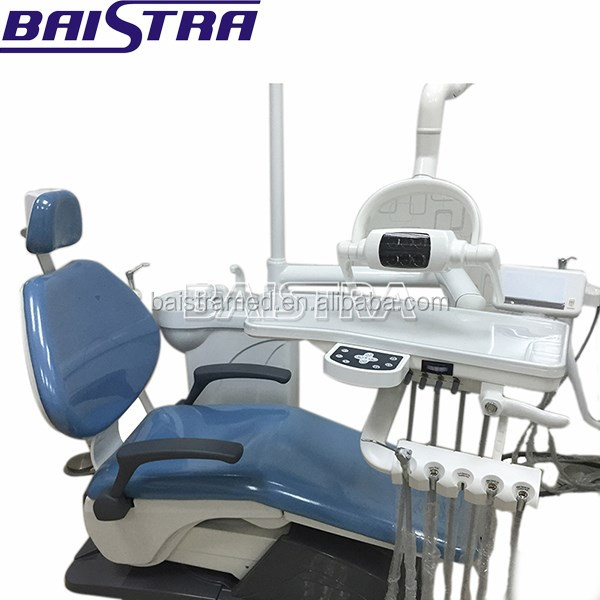 Hard Leather Computer Controlled Blue Color Dental Chair Unit