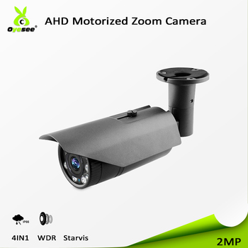 2018 High quality best ahd cctv bullet proof WDR camera 2MP 4 in 1 sony sensor ir vision night 40m motorized lens ip66 UTC