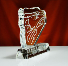 Eagle Shape K9 Crystal Academy Award Trophy