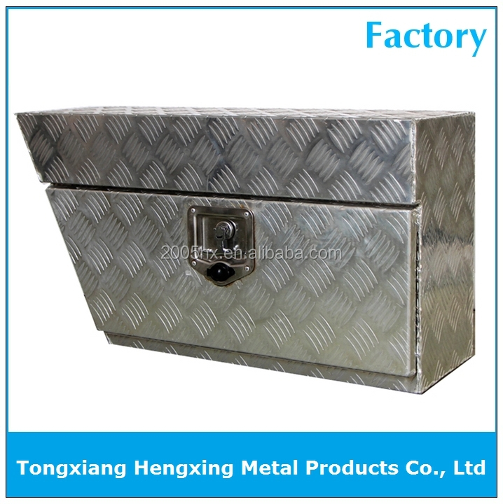 Aluminum Tool Box Under Tray Undertray Trailer Lock Storage Ute Box