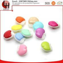 14mm color custom plastic small size apple shaped combined buttons Special offer